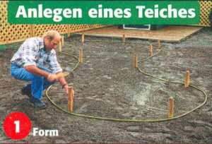 Gartenteich planen und anlegen - Meinen Kleingarten planen und gestalten